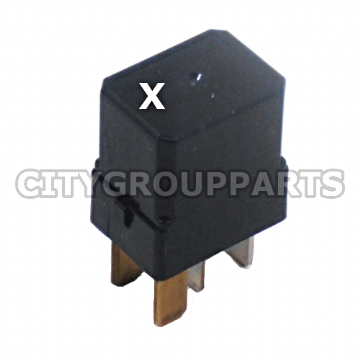 NISSAN MICRA NOTE CUBE JUKE QASHQAI MULTIPURPOSE  ENGINE CONTROL RELAY LETTER (X) NAIS 284B7 CW28E